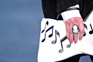 Street Style Crush.The D&G music-note Clutch.